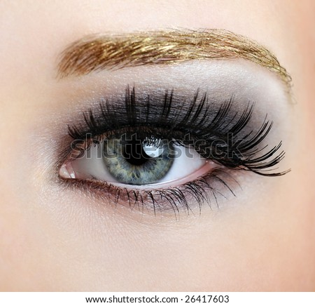 Makeup Styles on Woman Eye With Style And Fashion Make Up Stock Photo 26417603