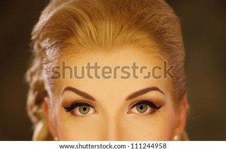 Woman eyes close-up