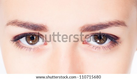 Woman eyes close up image