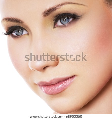 Most Beautiful Woman Face Face With Beautiful Makeup
