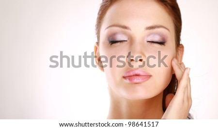 woman face with stylish