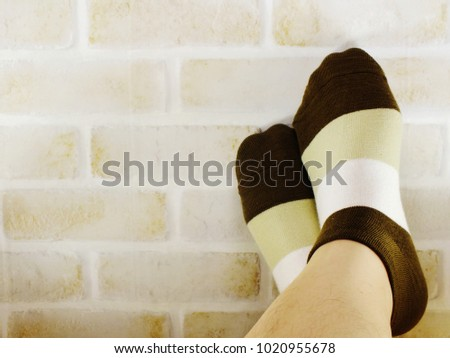 Woman feet relaxing and comfort holiday concept Images and Stock