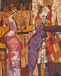 woman figure abstract. looking for partnerships with artdillers oil painting, author of Roman Nogin. series