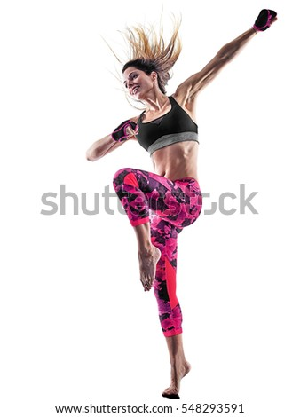 woman fitness boxing pilates...