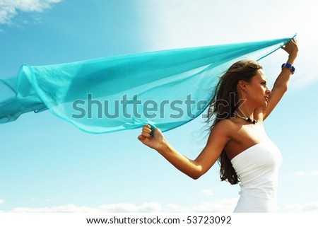 woman fly - stock photo