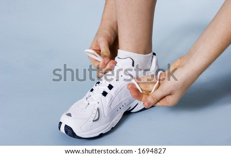 Woman getting ready for a workout