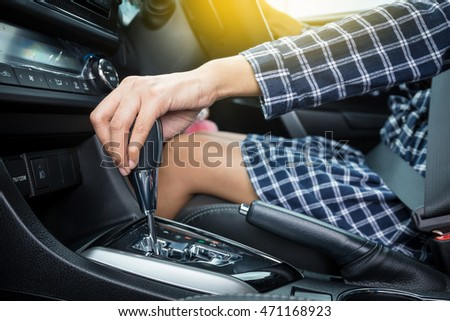 woman hand holding automatic...