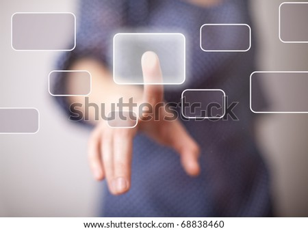 woman hand pressing one of the...