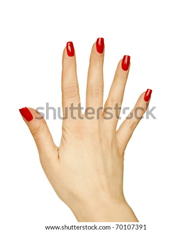 Woman hand showing gesture