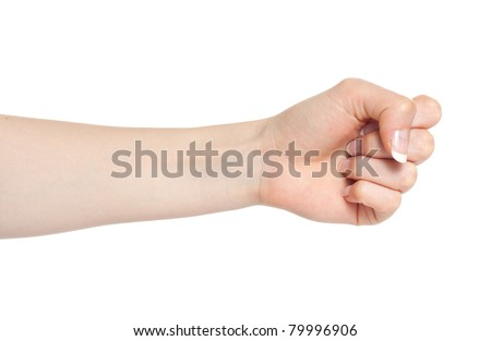Woman hand with fingers folded into a fist #79996906