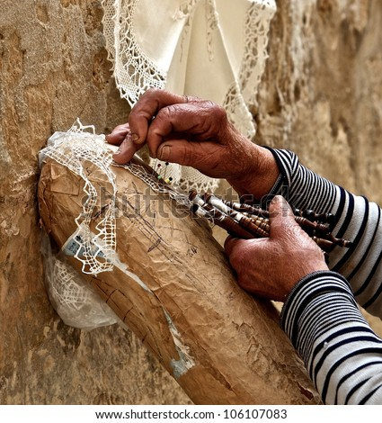 Woman hands close up, working woman hands, Close-up of female hands working, hard working hands, womans hands fragment close up, traditional craft works in Malta, maltese woman