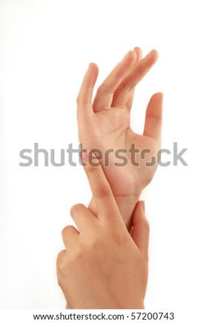 woman hands isolated on white background