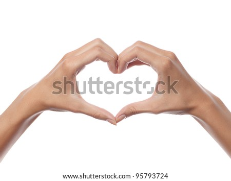 woman hands on white background isolated