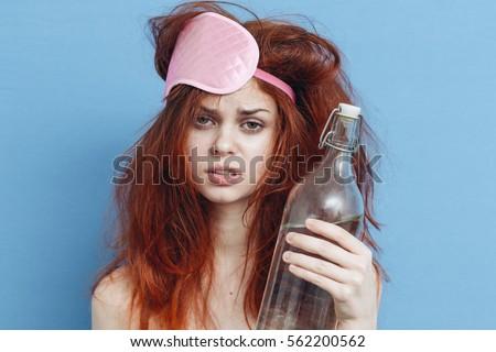 Woman hangover