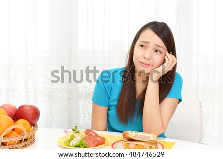 Woman has no appetite