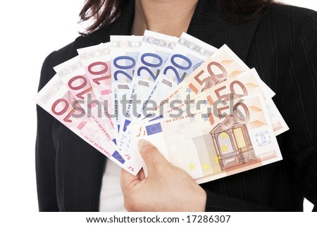 Pictures Of Money Notes. Holding Euro Money, Notes,