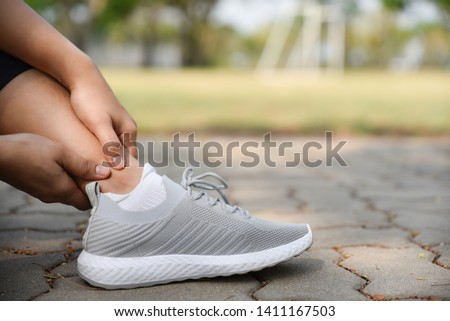 Broken twisted ankle - running sport injury  Images and