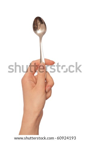 woman holding tablespoon in the hand for feeding a sick person
