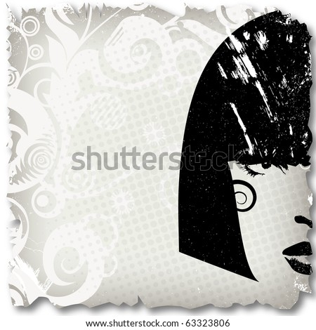 Woman image in grunge style