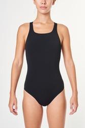 Woman in a black swimsuit mockup