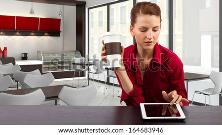 Woman in a Coffeeshop