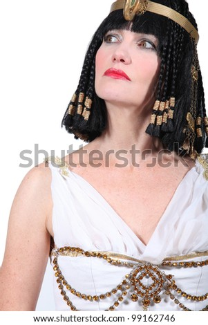 Woman in Cleopatra Fancy Dress Costume