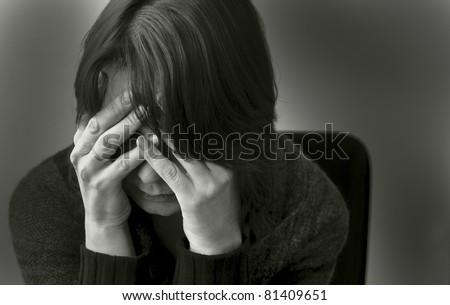 Woman in depression
