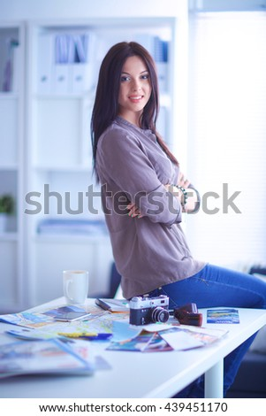 woman in modern equipped art studio #439451170