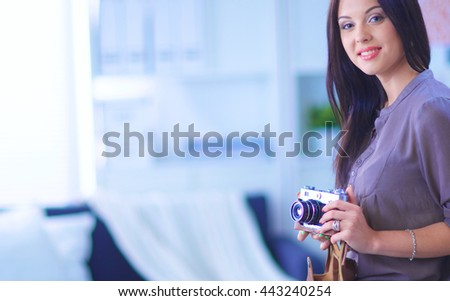 woman in modern equipped art studio #443240254