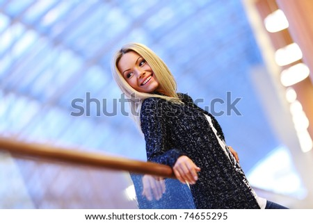 woman in modern place