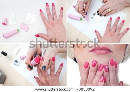Nail Art Design Procedures Step Procedure The Nail Art