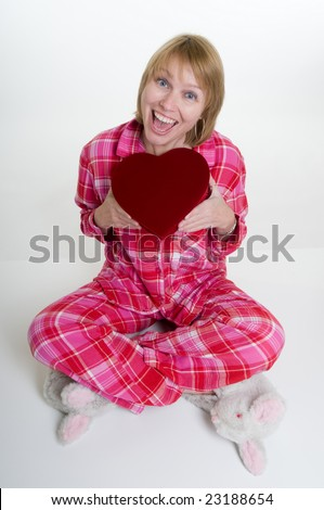Valentine Pajama set makes this Valentines Day special in this 2 piece pink