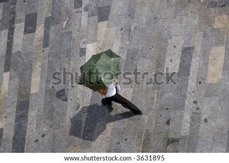 woman in rainfall