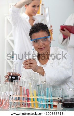 Woman in science in laboratory