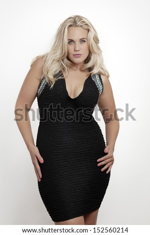 woman in sex party dress shot in the studio on a white background