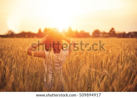 Woman in sunset #509894917