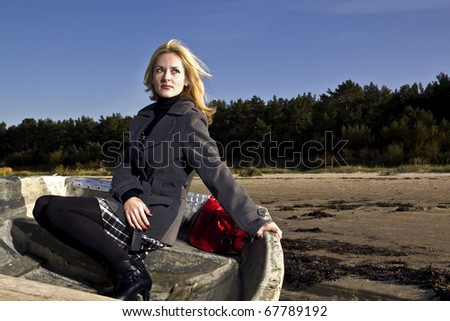 Woman in the boat