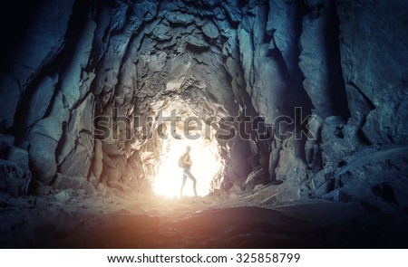 Shutterstock Woman in the cave