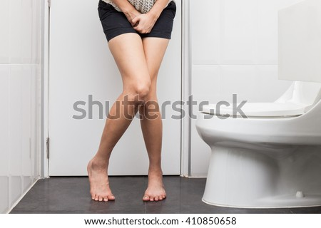 Woman in the toilet