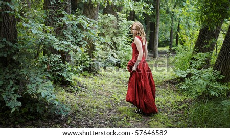 woman in the woods #57646582