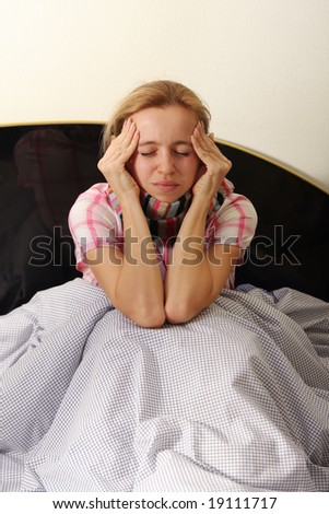 Woman is ill - stock photo
