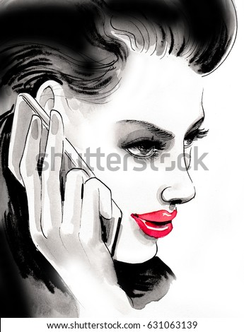 Woman is talking over the phone