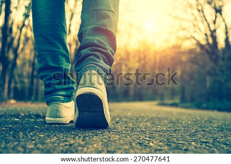 Shutterstock Woman jeans and sneaker shoes