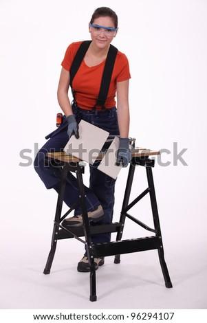 Woman laborer - stock photo
