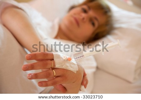 stock photo woman laying on hospital bed during intravenous calcium dosage 33023710 Fashion, Runway, Sport, Casual, Swimwear, Lingerie, Nude, Art, Glamour, ...