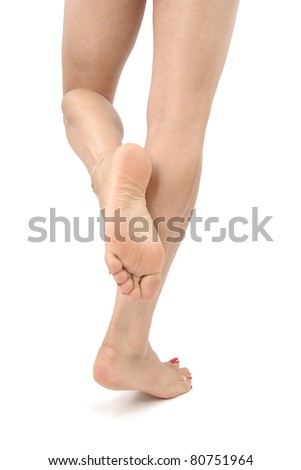 Woman legs isolated  over white background