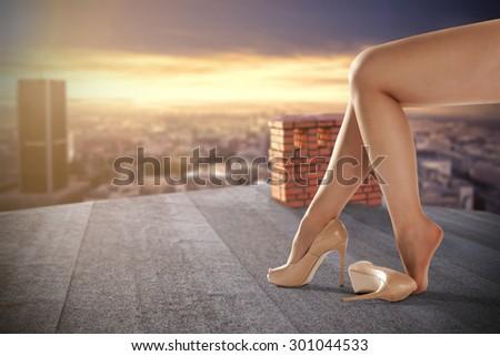 woman long legs