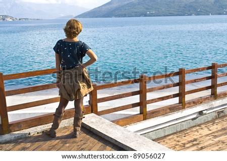 Woman looking at sea