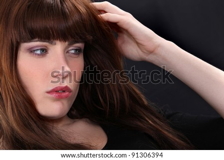 woman looking lost and confused