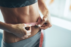 Woman losing weight